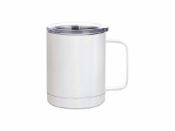 10oz/300ml Glitter Sparkling Stainless Steel Coffee Cup (White)