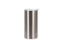 12oz/350ml Sublimation Skinny Stainless Steel Lowball Tumbler (Silver)