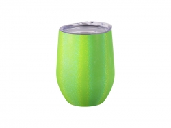 12oz/360ml Glitter Sparkling Stainless Steel Stemless Cup (Green)