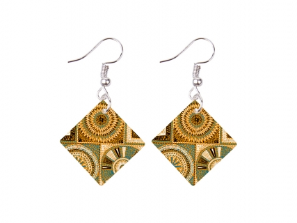 Sublimation SquareShell Earring (19*19mm)