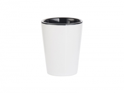 1.5oz Ceramic Shot Glass-Two Tone Black