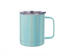 10oz/300ml Glitter Sparkling Stainless Steel Coffee Cup (Light Blue)