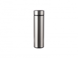 16OZ/450ml Sublimation Smart Stainless Steel Flask w/ Temperature Display (Silver)