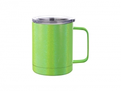 10oz/300ml Glitter Sparkling Stainless Steel Coffee Cup (Green)