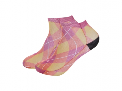 Sublimation Adult Ankle No Show Socks (8.5*22)