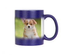 11oz Color Changing Mugs (StarSky Blue, Frosted)