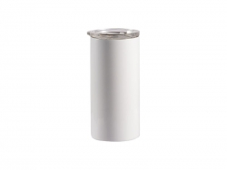 12oz/350ml Sublimation Skinny Stainless Steel Lowball Tumbler (White)