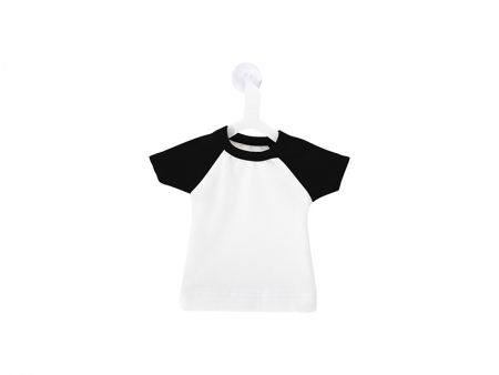 Mini T-shirt with Hanger (Collar/Sleeve in Black) MOQ:100pcs/color