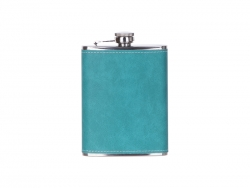Sublimation 8oz/240ml Stainless Steel Flask with PU Cover (Green)