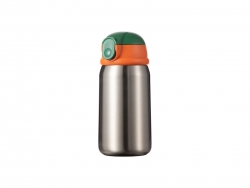 12oz/360ml Sublimation Kid Stainless Steel Bottle (Silver)