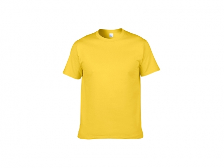 Sublimation Cotton T-Shirt-Light Yellow