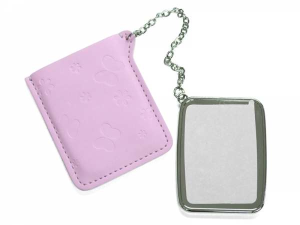 Sublimation Rectangular Hand Mirror with Leather Case