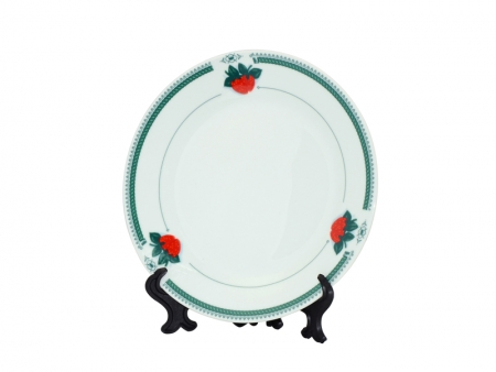 "7.5"" Rim Plates(Green strawberry)"