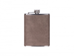 Sublimation 8oz/240ml Stainless Steel Flask with PU Cover (Dark Gray)