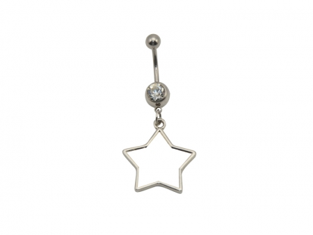 Sublimation Belly Button Ring(Star)