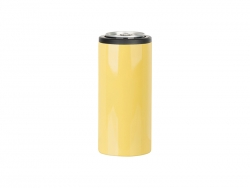 12oz/350ml Stainless Steel Skinny Can Cooler(Yellow)