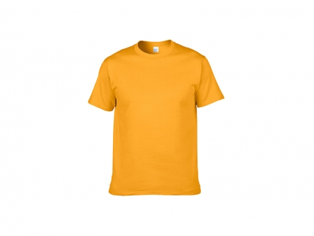 Sublimation Cotton T-Shirt-Yellow