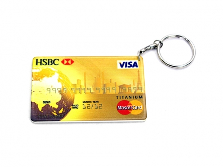 Credit Card Plastic Keychain 53*85mm
