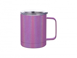 10oz/300ml Glitter Sparkling Stainless Steel Coffee Cup (Purple)