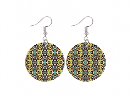 Sublimation Round Shell Earring (φ30mm)