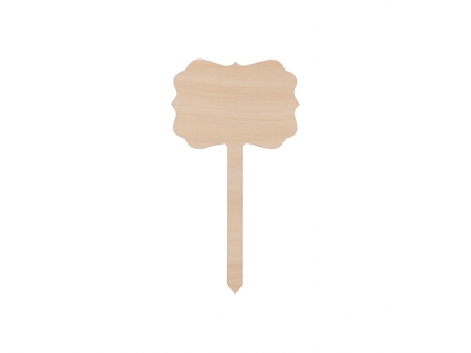 Sublimation Plywood Lace Garden Stake(10*17.5cm)